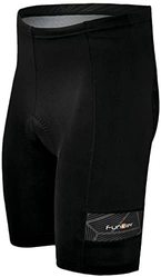 Велошорты Funkier Roma S-227-B1 Men Active 7 panel Shorts с памперсом B1, черные (2021)