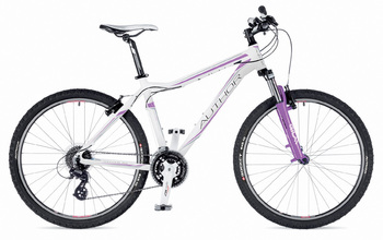 Велосипед MTB Author Solution ASL Extreme White (Bishop Violet / Grey) / Bishop Violet (2015)