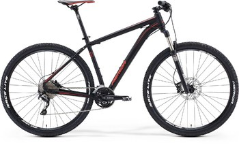 Велосипед MTB Merida BIG.NINE 500 MATT BLACK (DARK GREY/SIGNAL RED) (2015)