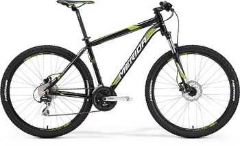 Велосипед MTB Merida BIG.SEVEN 20-D Matt Black (white/green) (2015)