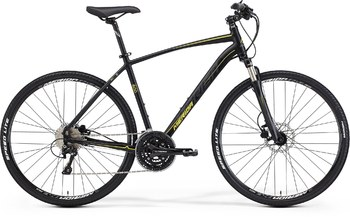 Гибридный велосипед Merida Crossway 600 Matt Black (yellow/dk.grey) (2015)
