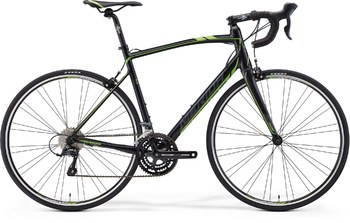 Шоссейный велосипед Merida Ride 100-24 Silk Black (dark grey/green) (2016)