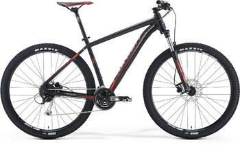 Велосипед MTB Merida BIG.NINE 100 Matt Black(Signal-Red/Grey) (2016)