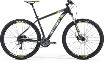 Велосипед MTB Merida BIG.NINE 300 Matt Met.Black(White/Green) (2016)