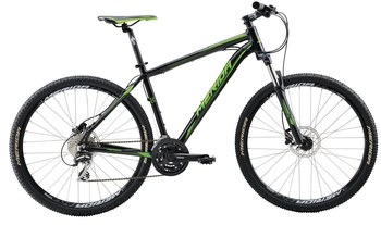 Велосипед MTB Merida BIG.SEVEN 20-D Matt Black(Green) (2016)