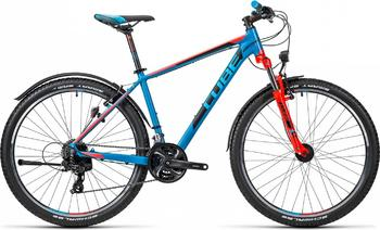 Велосипед MTB Cube Aim Allroad 27,5 Caribbeanblue´n´Flashred (2016)