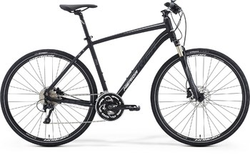 Гибридный велосипед Merida Crossway XT Edition Matt-Black(Grey/White) (2016)