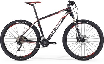 Велосипед MTB Merida Big.Seven 1000 Matt UD Carbon (Red/White) (2016)