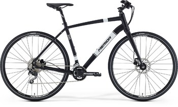 Гибридный велосипед Merida Crossway URBAN 300 Silk Black (White) (2016)