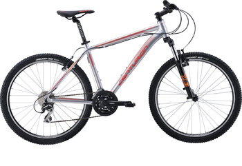 Велосипед MTB Centurion Backfire 40.26 (Matt Silver/red-orange) (2016)