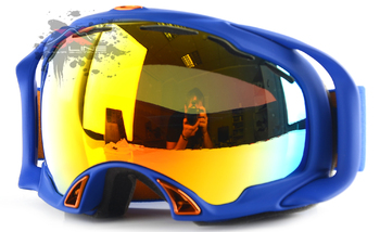 Маска Oakley SPLICE SAPHIRE BLUE / FIRE IRIDIUM (2016)