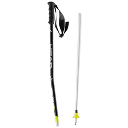 Палки горнолыжные HEAD WC Super G Bent White/Fluor - Yellow (2016)