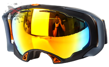Маска Oakley SPLICE Matte Black / Fire Irid (2016)