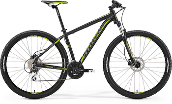 Велосипед MTB Merida Big.Nine 20-D Matt Black (green) (2017)