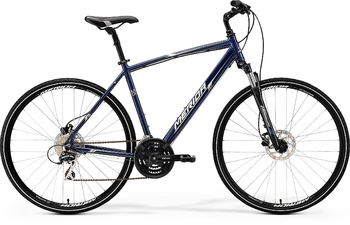 Гибридный велосипед Merida Crossway 20-D Dark Blue (silver/white) (2017)