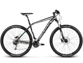 Велосипед MTB Kross Level B5 Black/Silver/Green matte (2017)