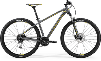 Велосипед MTB Merida Big.Nine 100 Matt Grey (Yellow/Dark Grey) (2018)