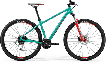 Велосипед MTB Merida Big.Nine 100 Green (Red/Dark Green) (2018)