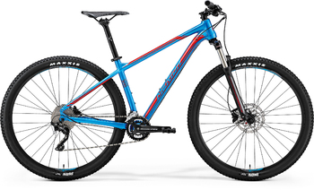 Велосипед MTB Merida Big.Nine 300 Metallic Blue (Red) (2018)
