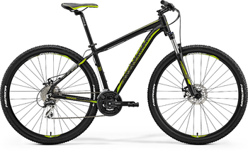 Велосипед MTB Merida Big.Nine 20-MD Matt Black (Green) (2018)