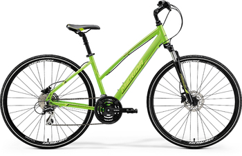 Гибридный велосипед Merida Crossway 20-D Lady Green (Lite Green/Black) (2018)