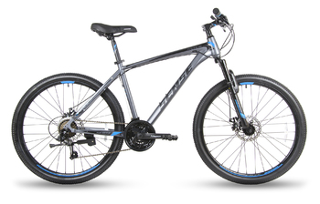 Велосипед MTB SENSE RAPID DISC 260 Dark grey/black/blue (2018)