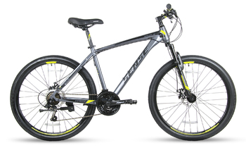 Велосипед MTB SENSE RAPID DISC 260 Dark grey/black/yelloy (2018)