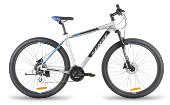 Велосипед MTB SENSE DYNAMIC DISC 290 HD Nickel/black/blue (2018)