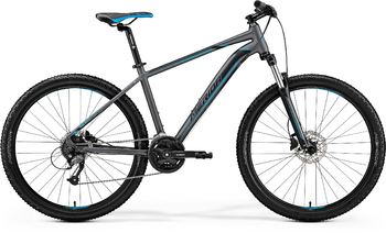 Велосипед MTB Merida Big.Seven 40-D MattDarkSilver/Blue/Black (2019)